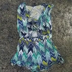 Good times USA blue and green romper